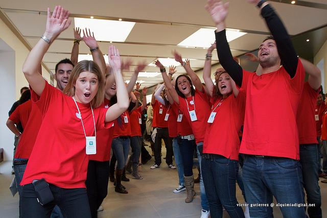 Inauguración Apple store calle Colón Valencia #8