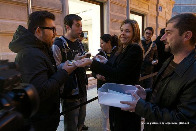 Inauguración Apple store calle Colón Valencia #84