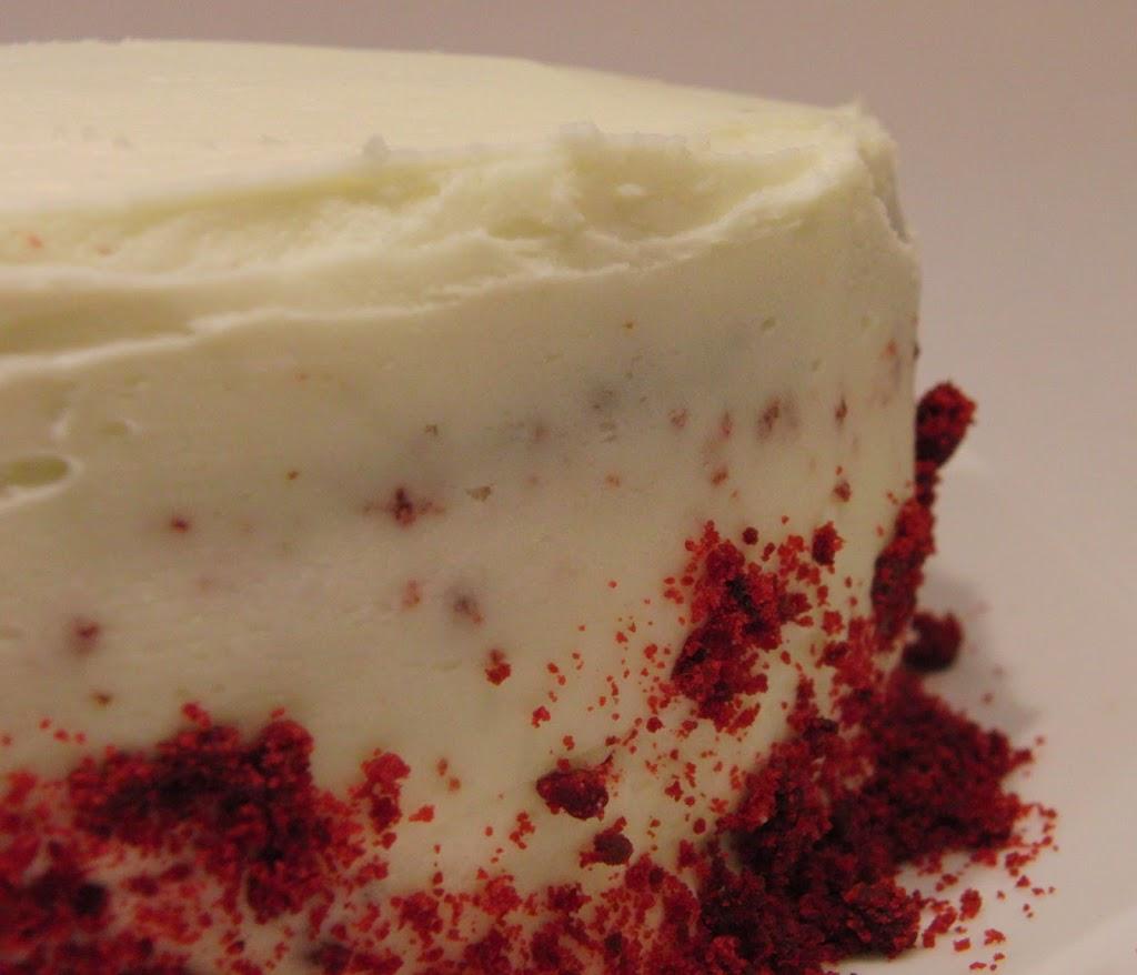 Primer plano de la tarta Red Velvet