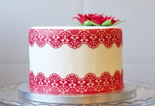 Encaje comestible para decorar tartas de fondant