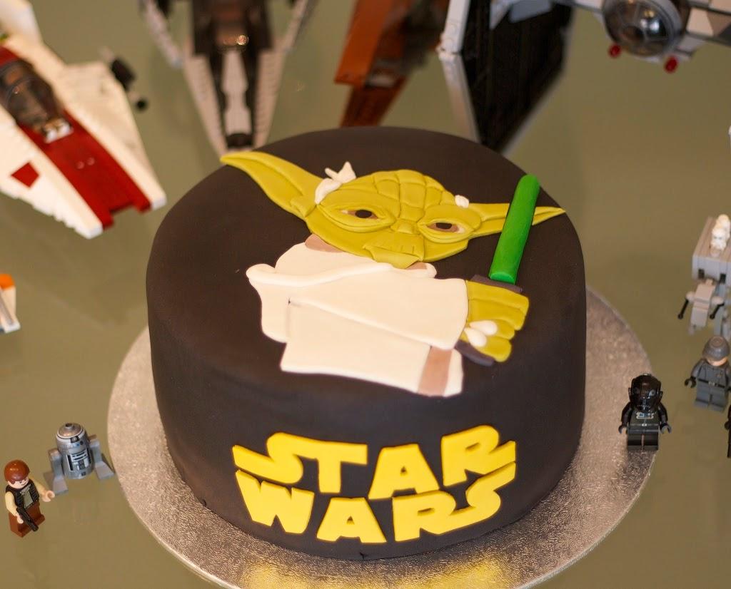 Tarta de fondant de Yoda