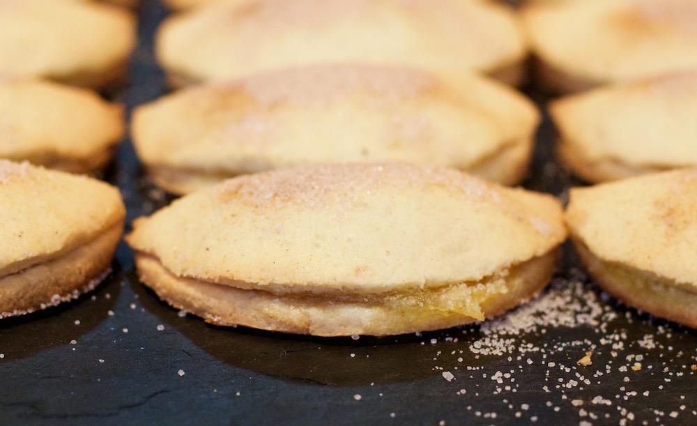 pastelitos de boniato recién hechos