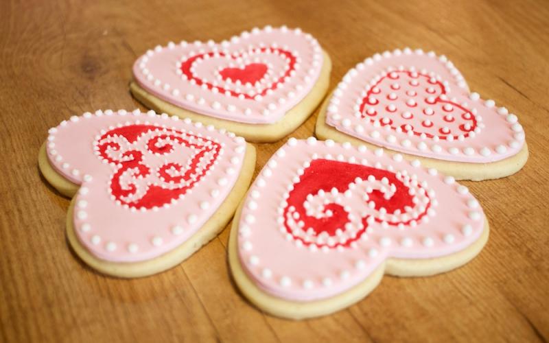 Decoración de galletas con juego de sellos Wilton