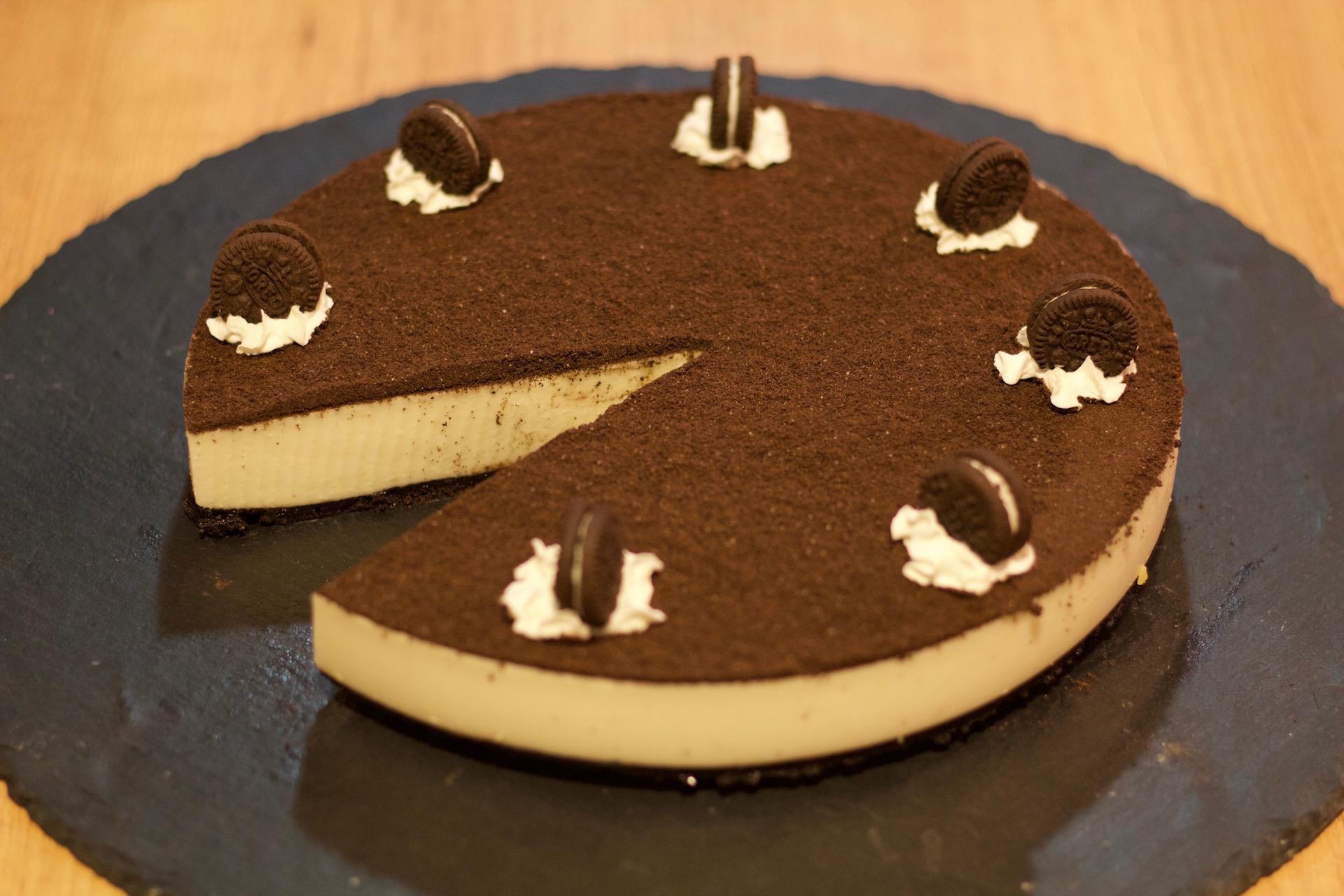 deliciosa tarta de Oreo sin horno